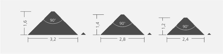 Querschnitt der Pyramidenschrift